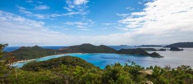 Panoramic view of Zamami island, Okinawa, Japan