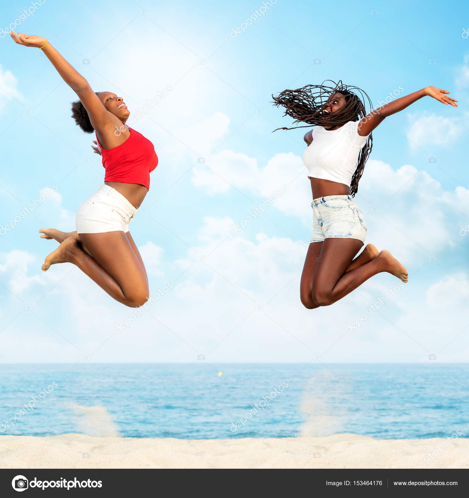Image result for african girls jumping at the beach