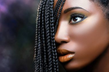 african woman with exquisite make up