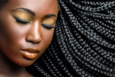 african woman with professional make up