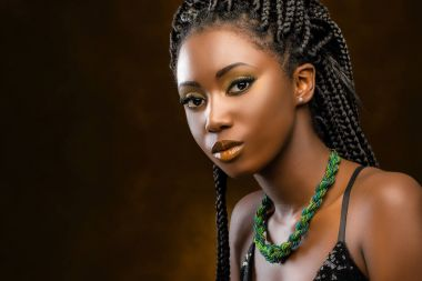 portrait of attractive african woman
