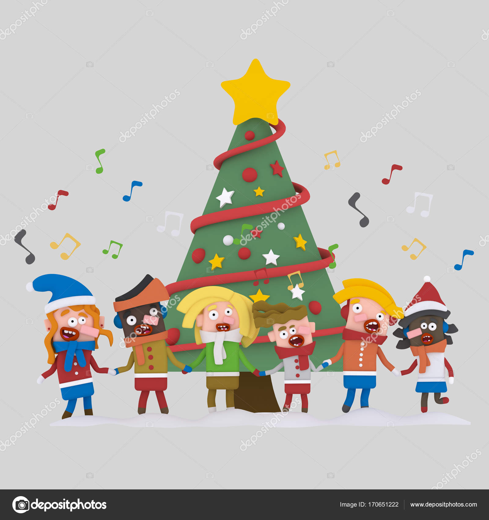 kids singing xmas songsisolate easy background remove easy combine for custom illustration contact me photo by rasinmotion