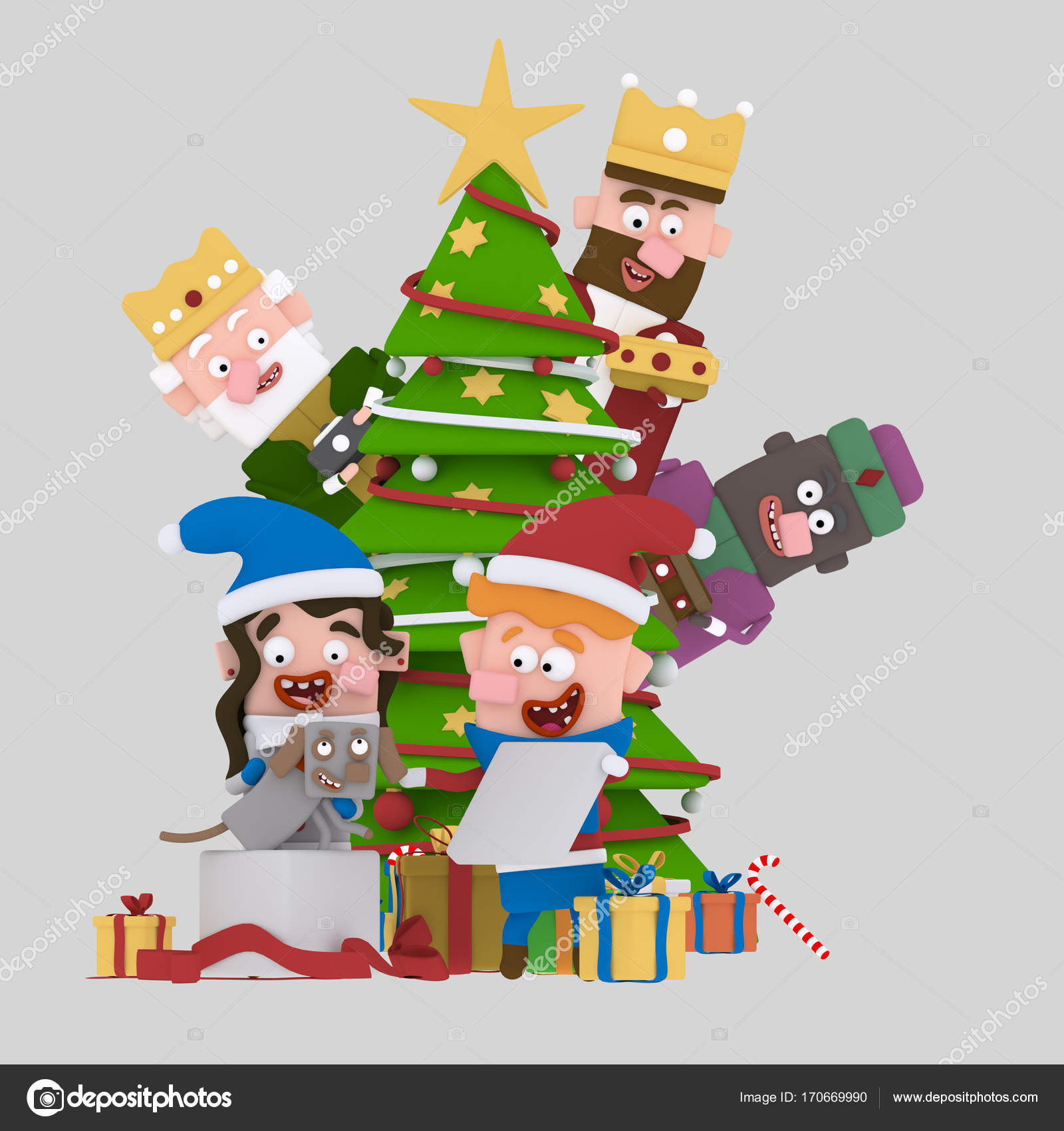 Invitaciones Navidad Personalizadas Reyes Magia Detrás Del