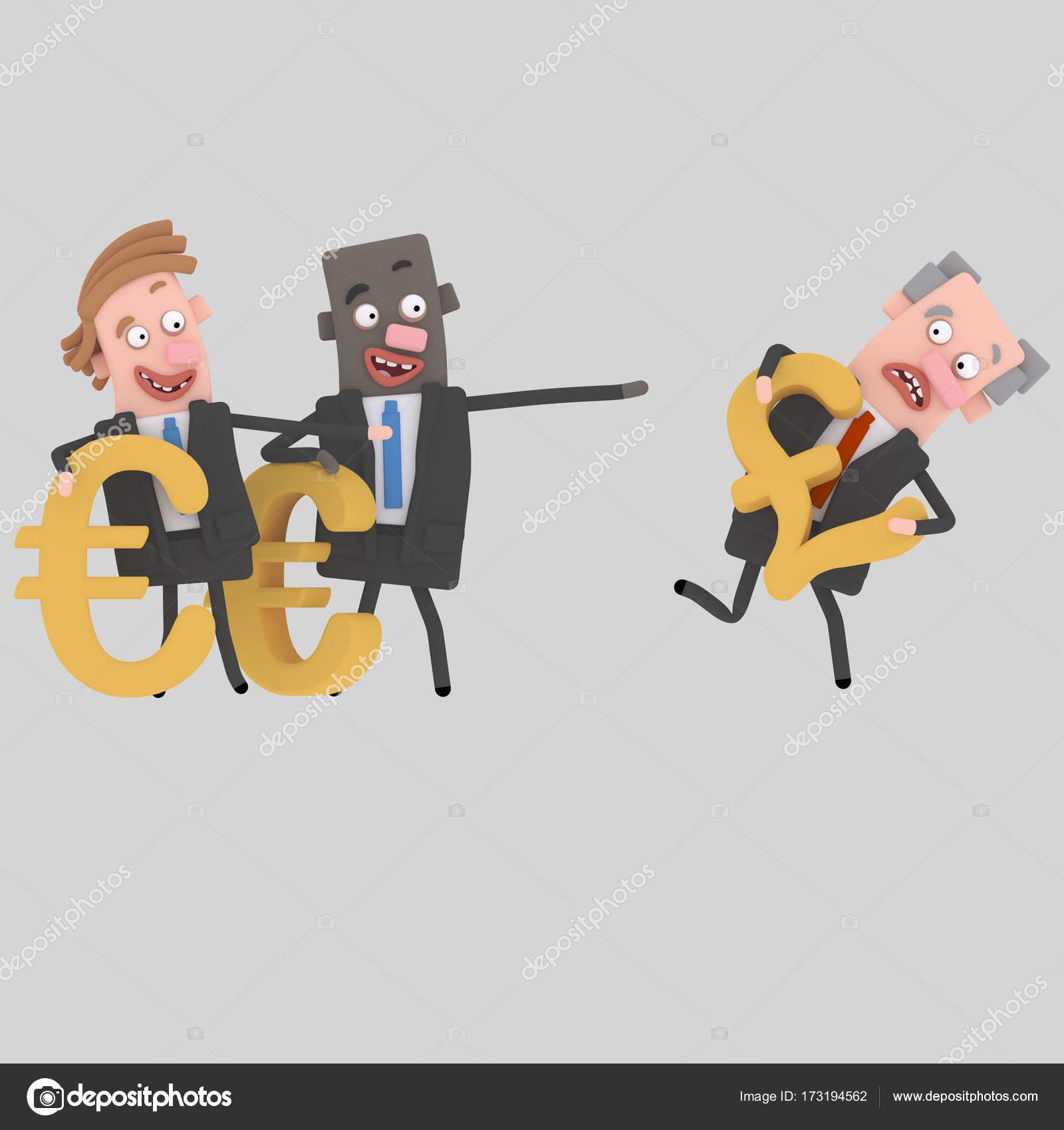 Dibujos Con Collage Paisajes Faciles Empresarios Con Ilustración