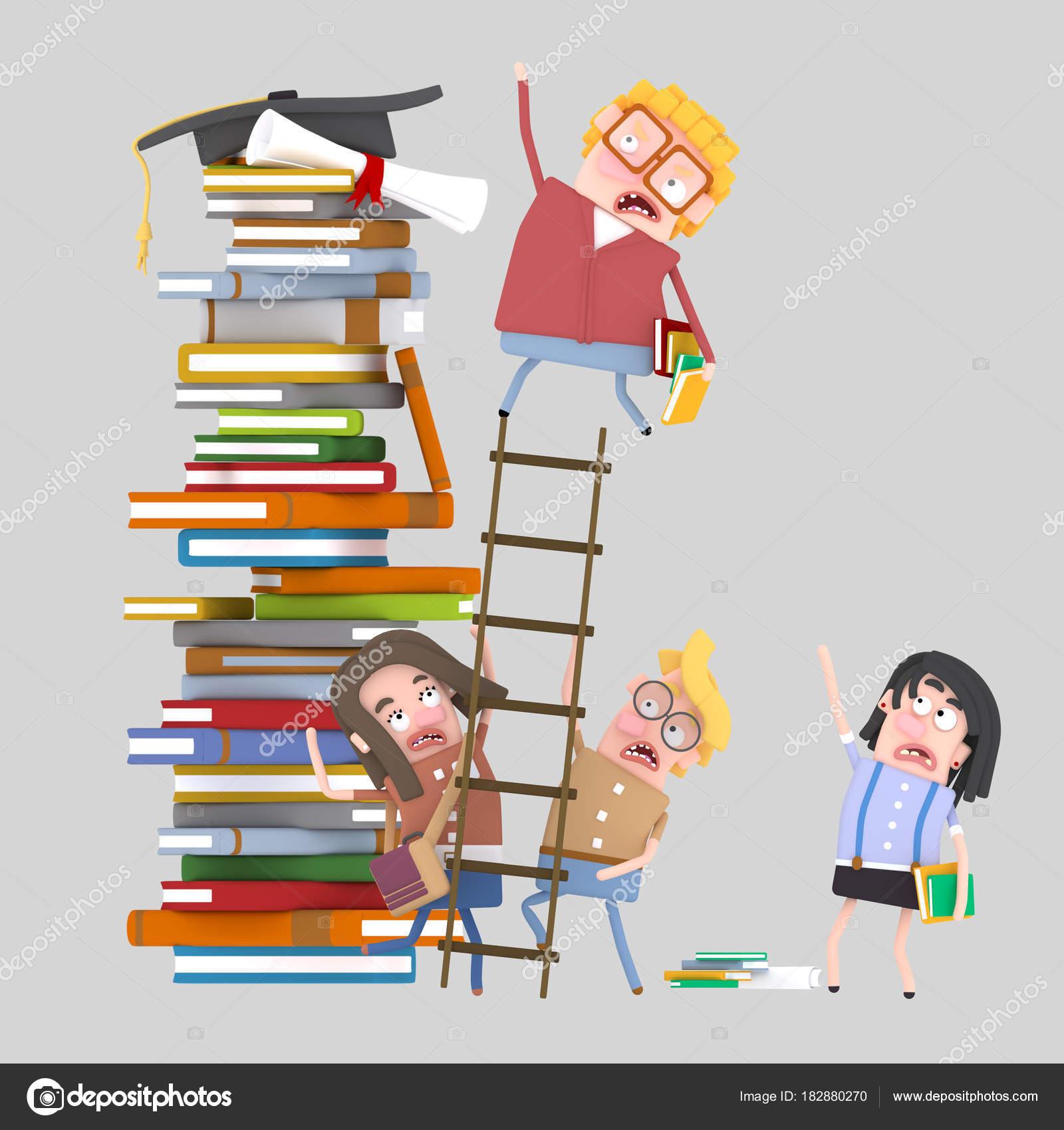 Student Climbing Ladder Illustration — Stock Photo © rasinmotion ... for Student Climbing Ladder  599kxo