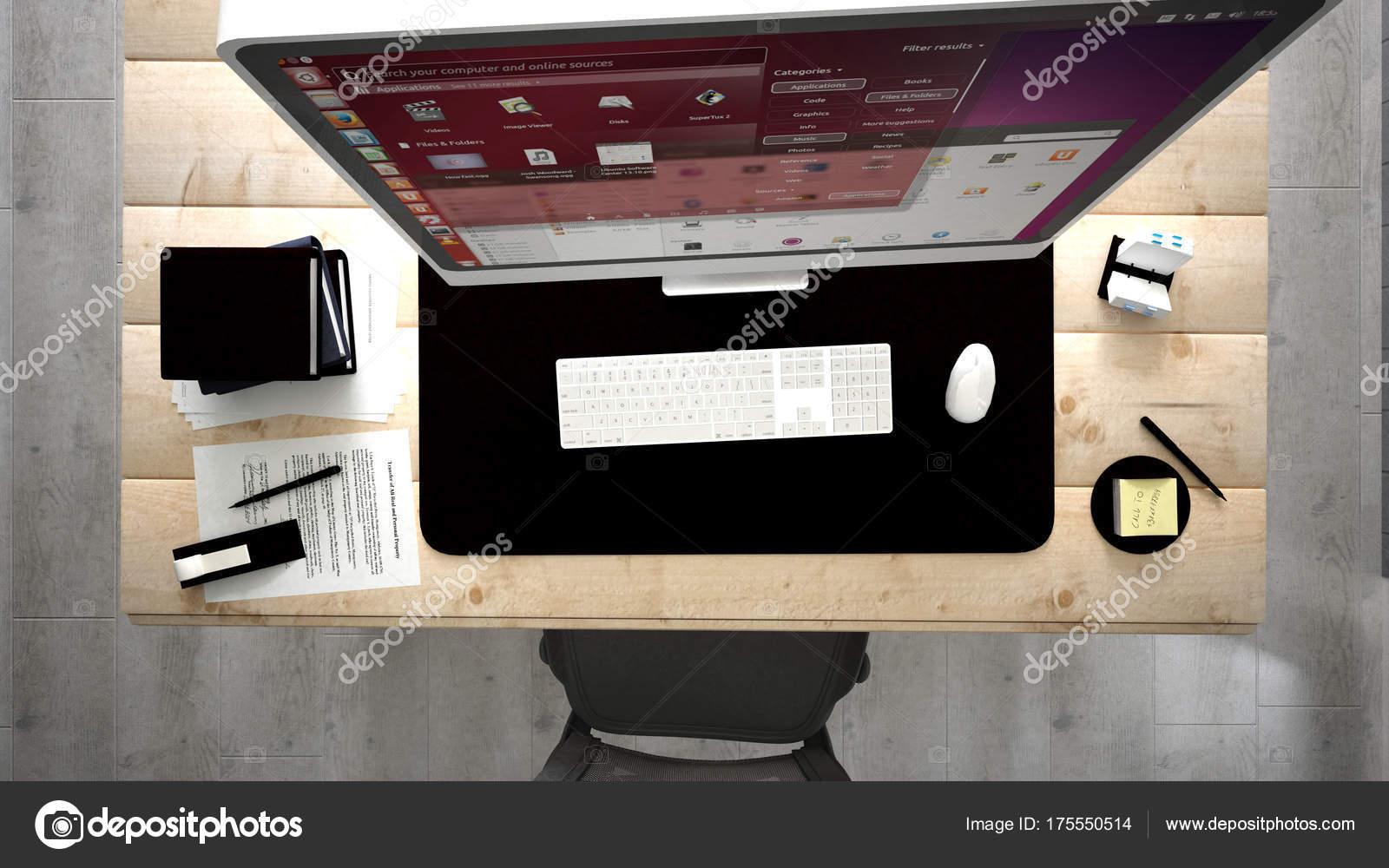 Rendu petit bureau domicile pour deux ordinateurs par exemple