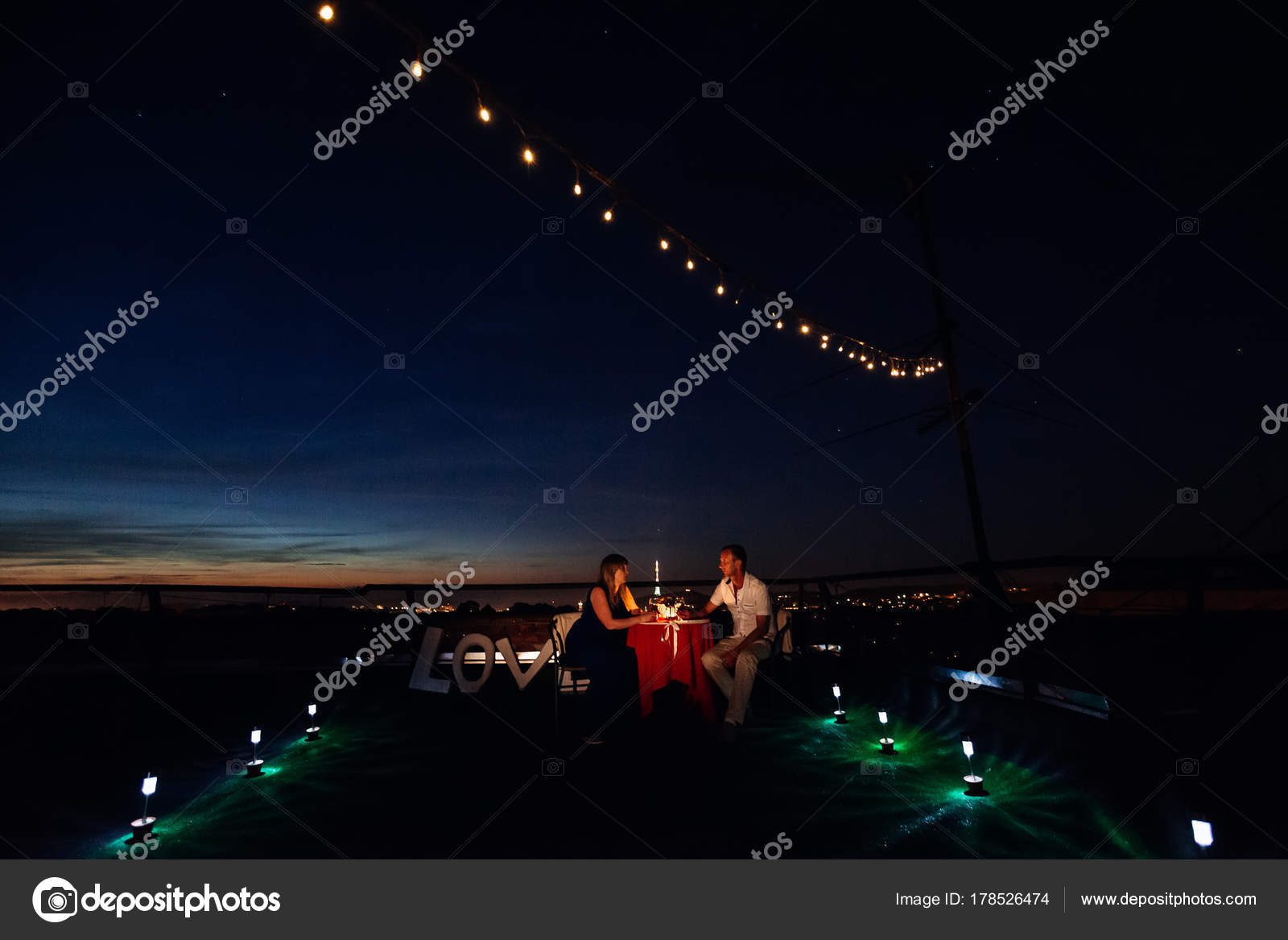 Conversation between two lovers on a romantic date on the