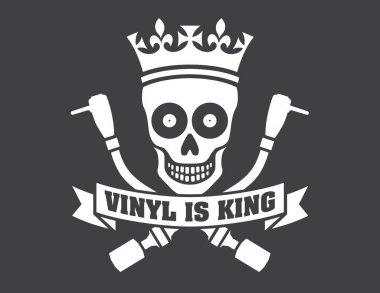 Vinyl record DJ vector logo