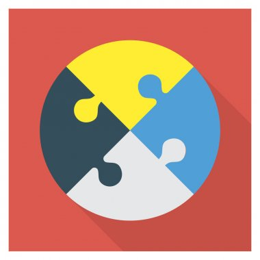 Business Management Flat icon for  piece &  puzzle