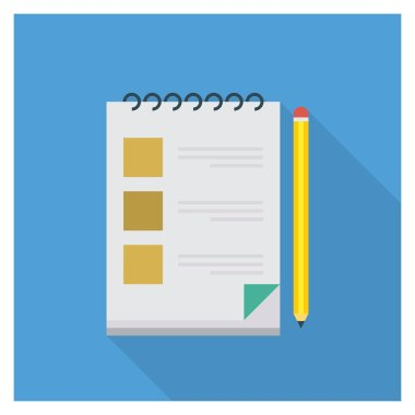 Business Management Flat icon for notebook & list