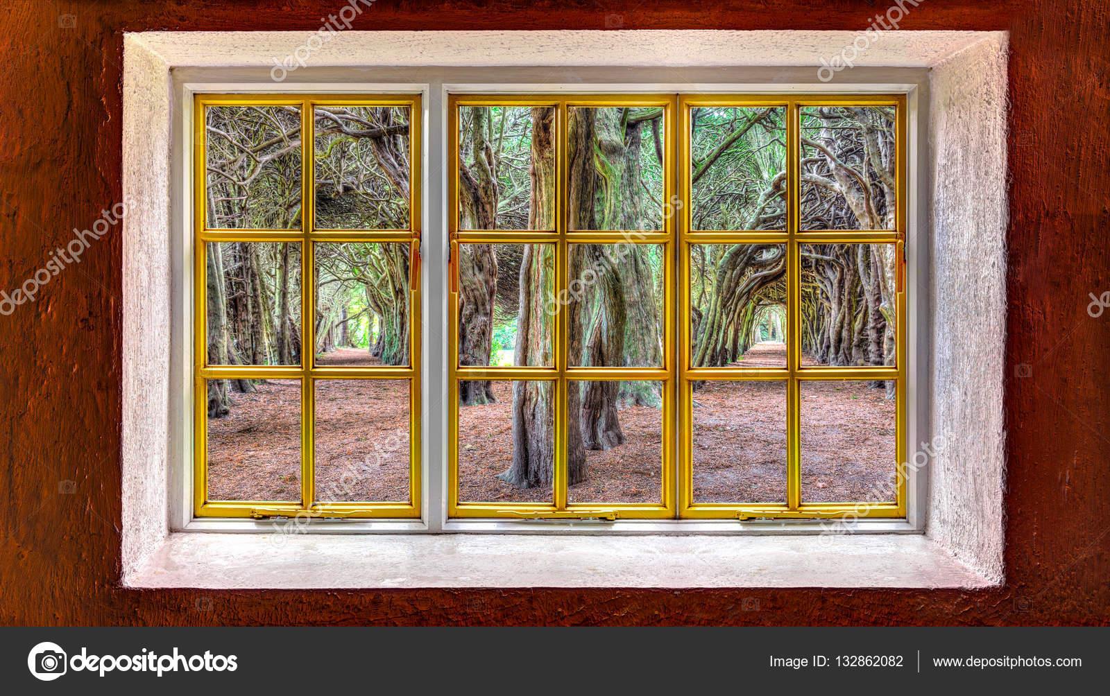 Fensterrahmen mit schneiden Sie Windows als Vorlage verwendet werden ...