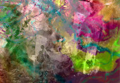Abstract creative wallpaper with colors blots