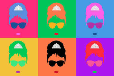 Audrey Hepburn, Colored Vector Illustration Pop Art Style Andy Warhol