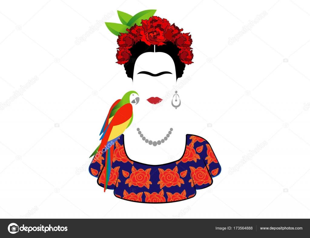 Frida Kahlo Para Colorear