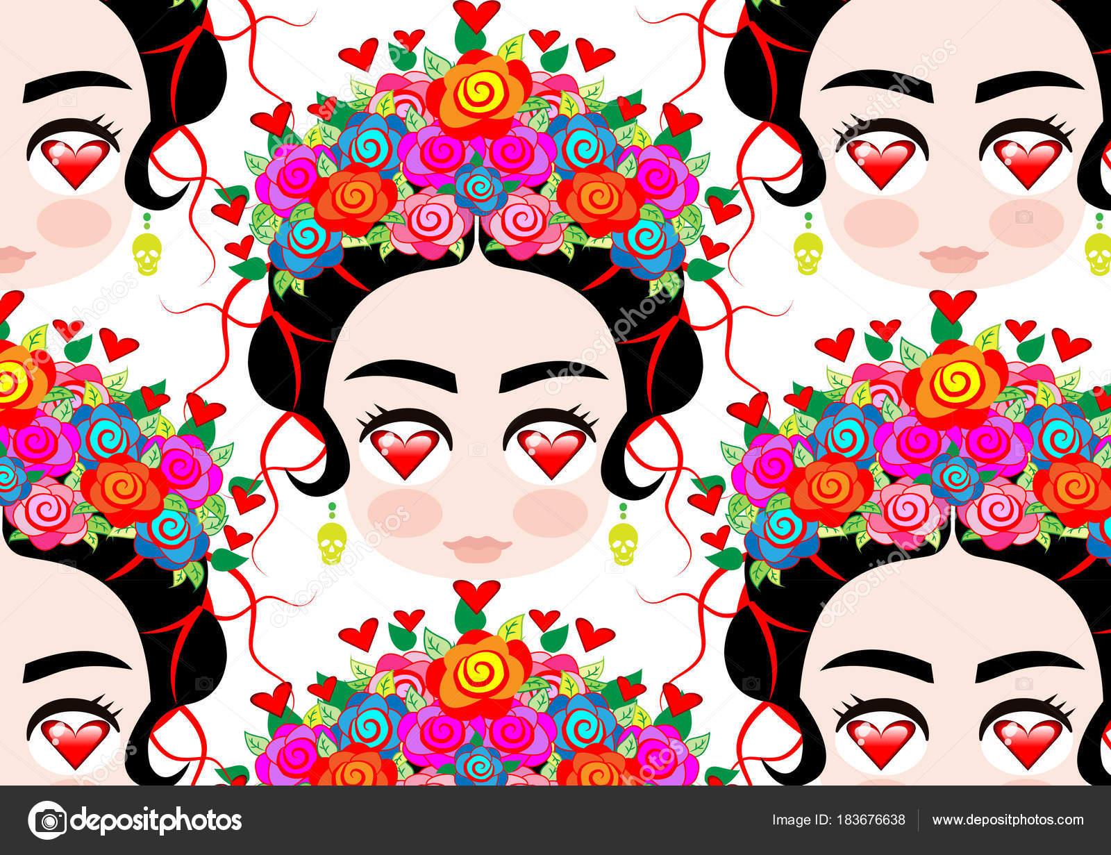 Dibujos Fondos Bonitos De Nina Mujer Mexicana De Emoji Bebe Con
