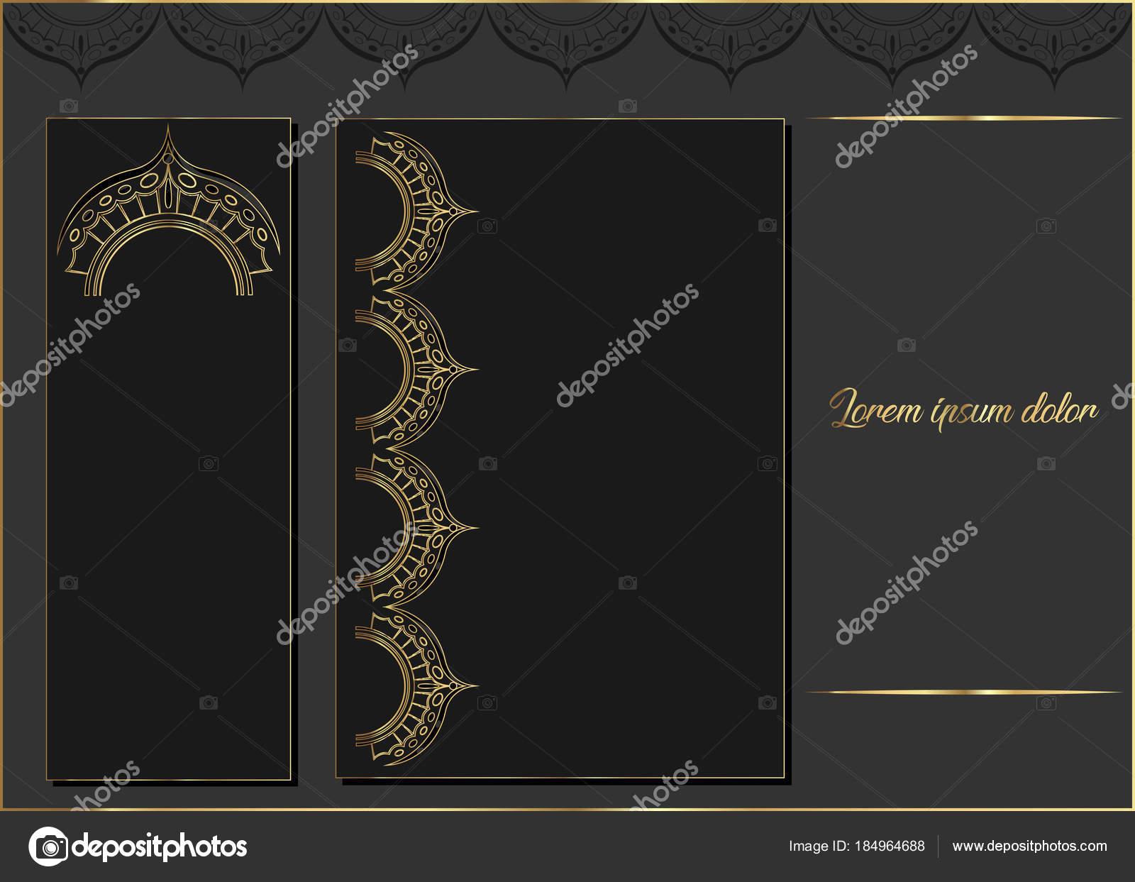 Lasergeschnitten mit goldenen Satz von reich verzierten Karten ...