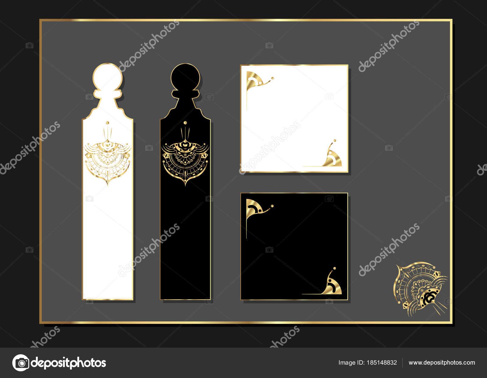 Lasergeschnittenes Luxusdesign mit Gold akzentuiert. Goldene Reihe ...