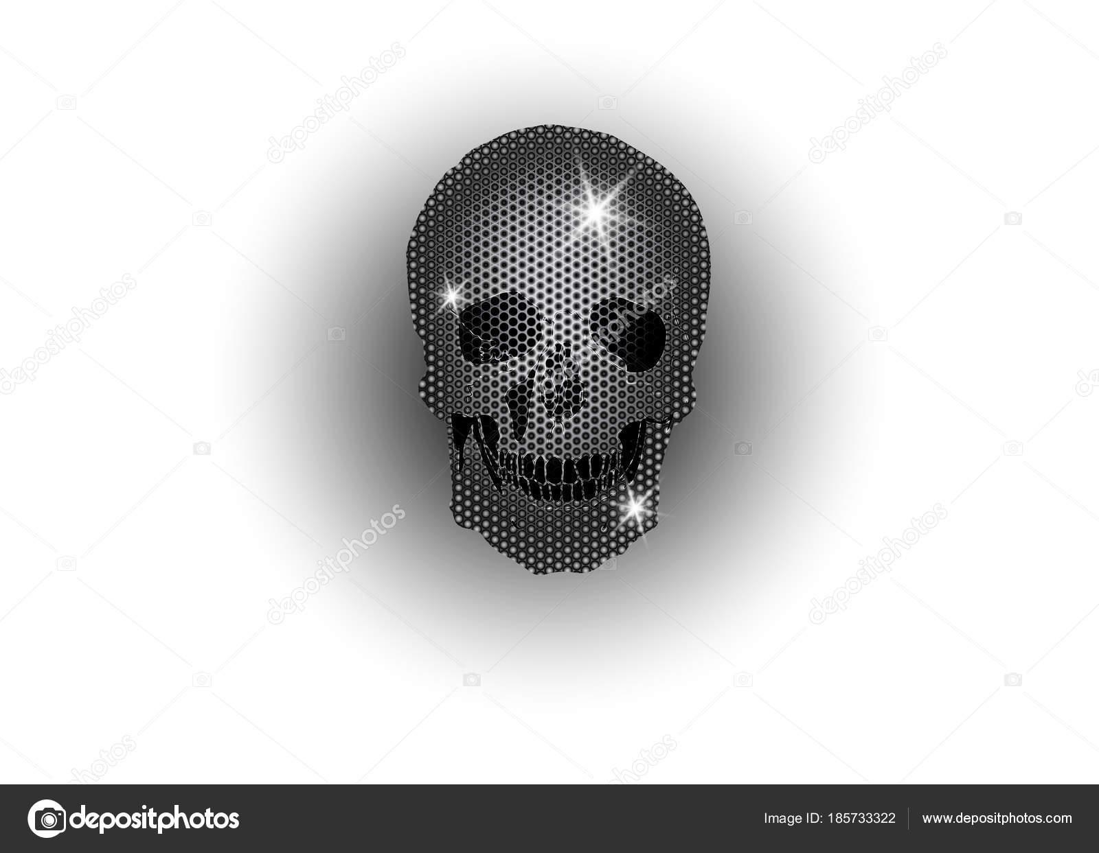354439437193 Brillante cráneo de platino y diamantes que brillan estrellas. Colección de  elemento cráneo metálico. Día de los muertos. Icono símbolo moda diseño  lujo ...