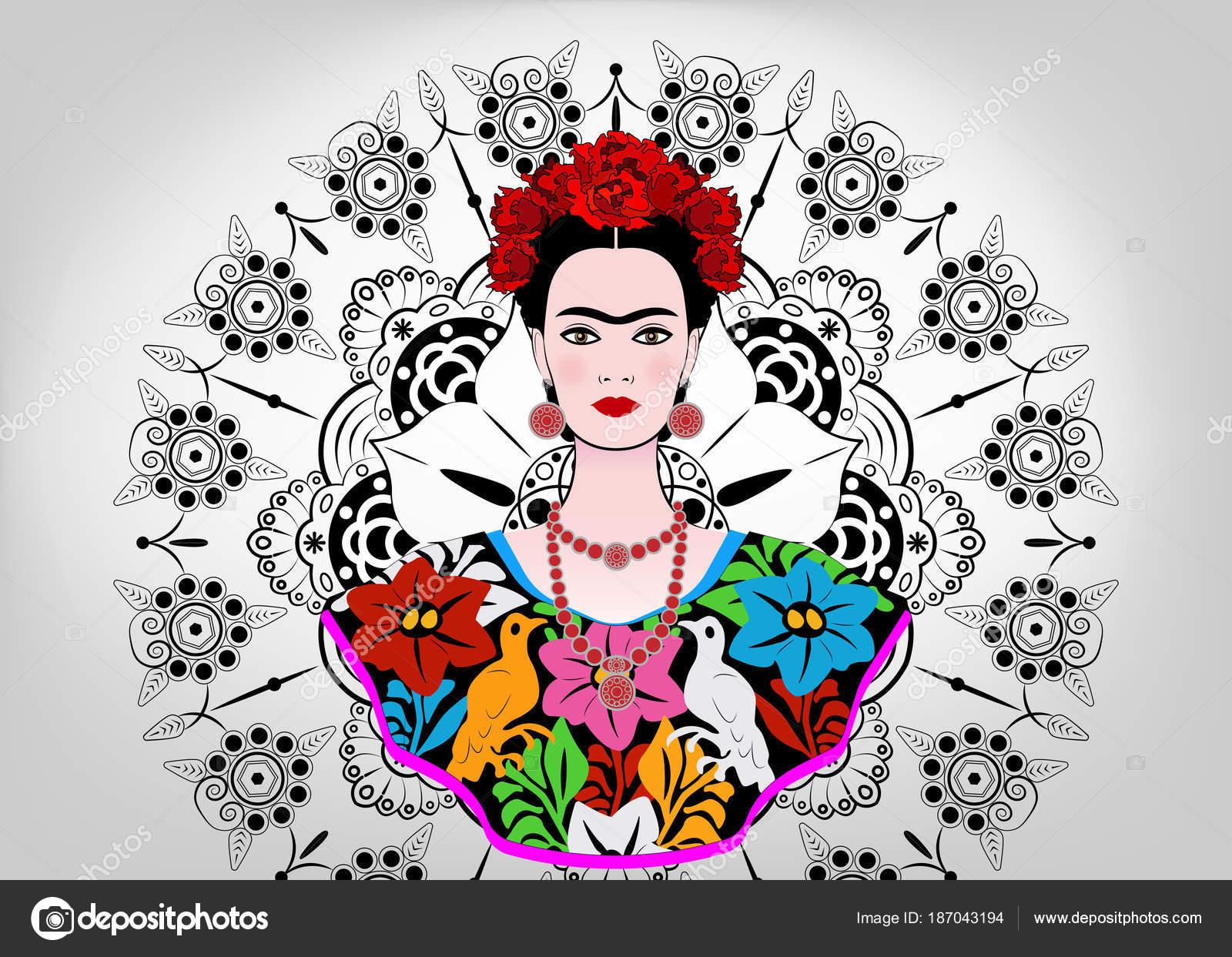 Moderno Colorear Frida Kahlo Elaboración