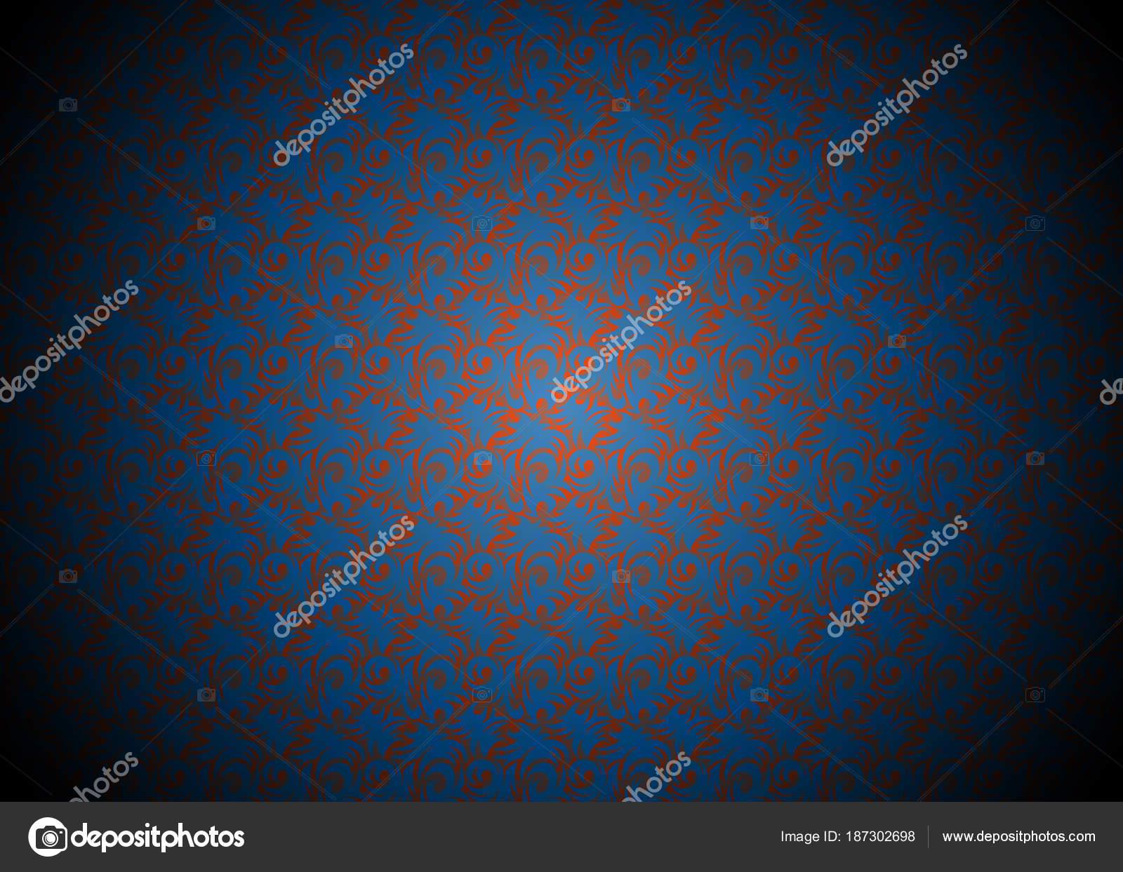 Luxury Dark Blue And Orange Background Decorated Wallpaper