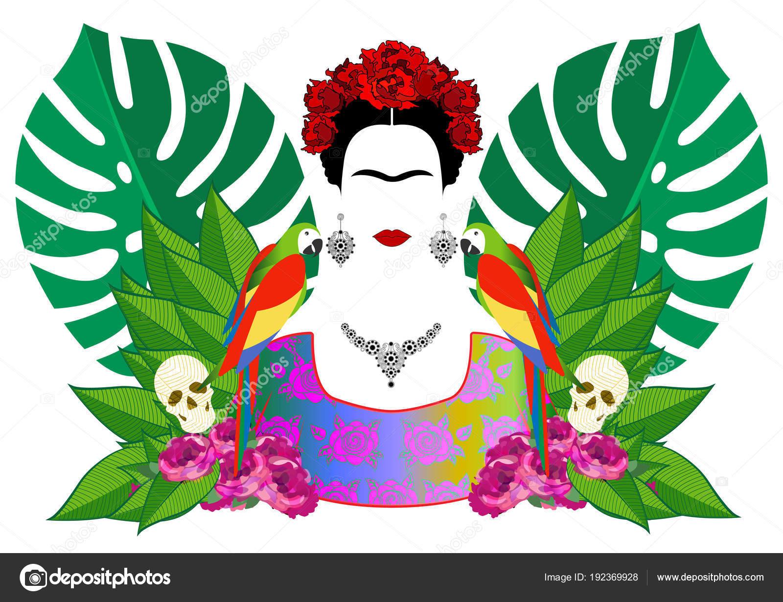 Frida Kahlo Dibujo Para Colorear: Frida Kahlo Animada Para Colorear