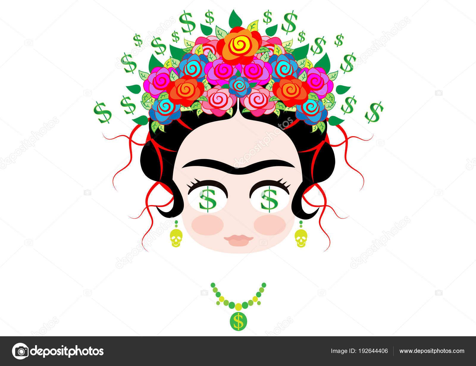 Vector Emoji Dinero Frida Kahlo De La Historieta Emoji Bebé