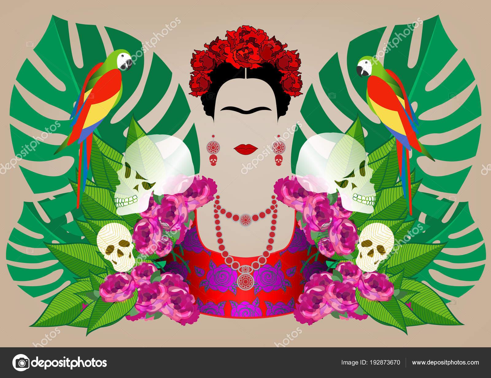 Frida Kahlo Para Colorear Animada
