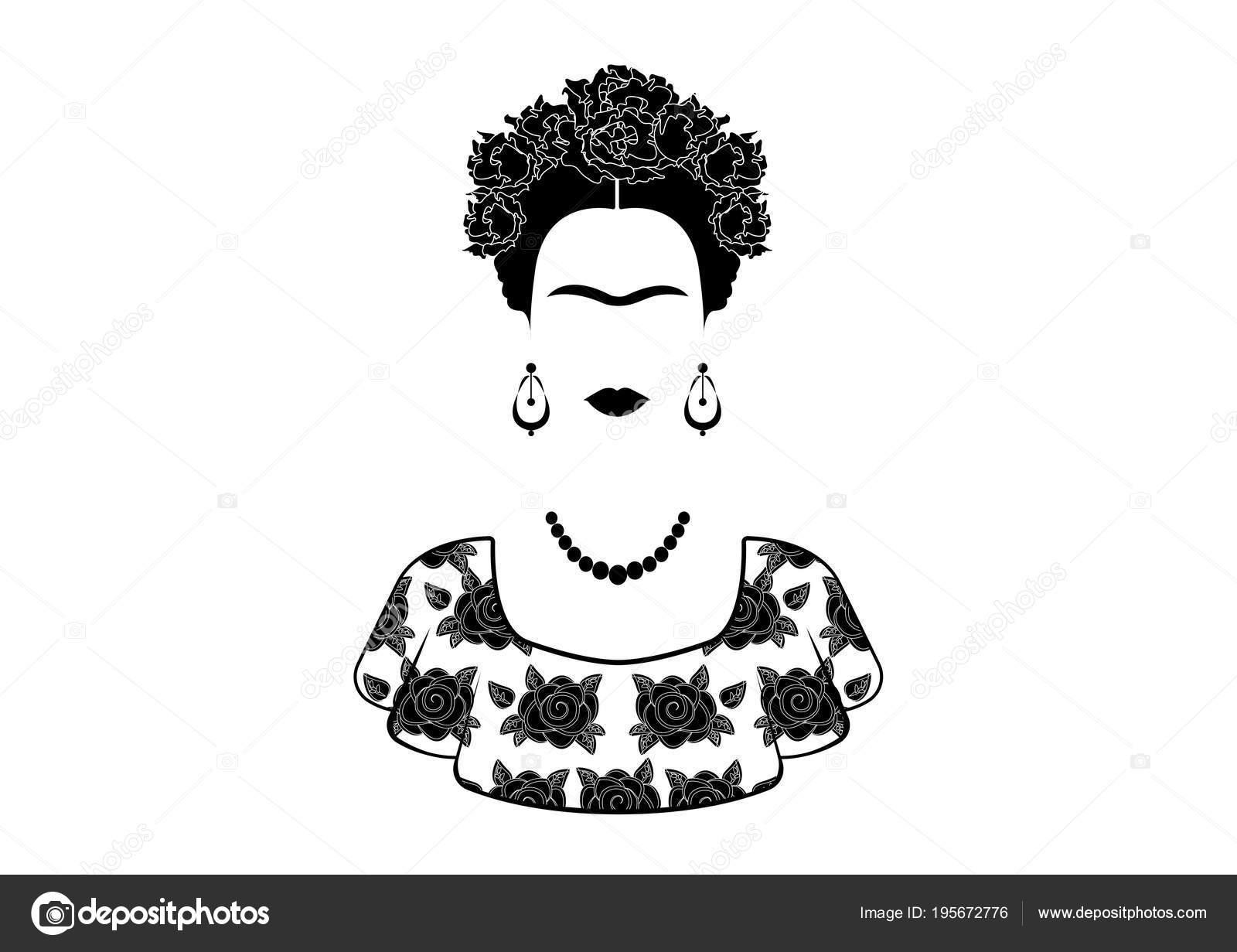 Imagenes De Frida Kahlom Para Colorear: Frida Kahlo INSTANT DOWNLOAD Black And White Minimalist
