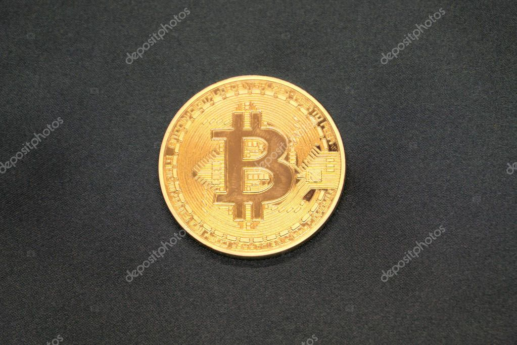 Five Virtual Coins Bitcoins On Printed Circuit Board