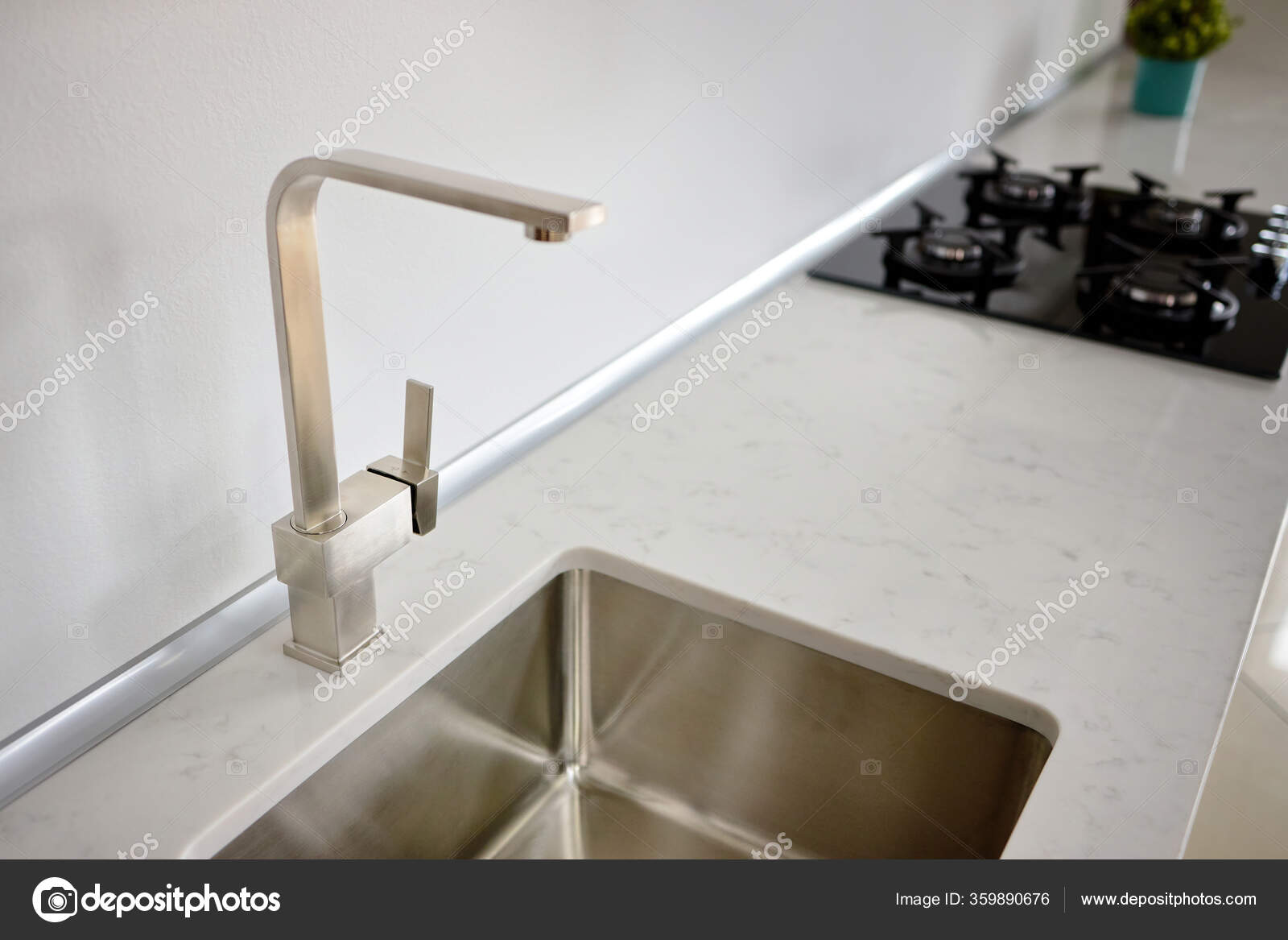 Modern Design Chrome Water Tap Stainless Steel Kitchen Sink Table ...