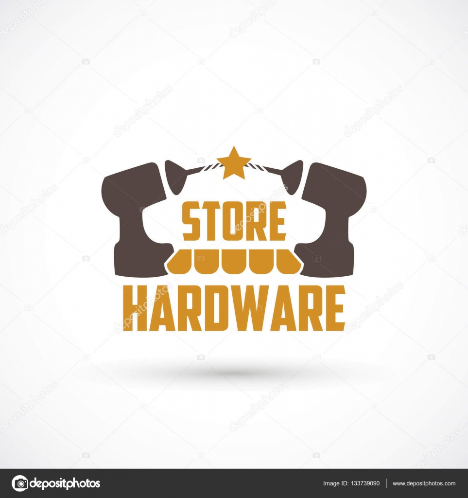 a6ab6ed8f Loja de ferragem forma logotipo — Vetores de Stock © shekaka #133739090