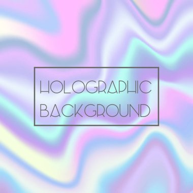 Abstract bright holographic texture