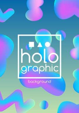 Hologram fluid neon pattern