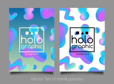 Abstract bright holographic pattern