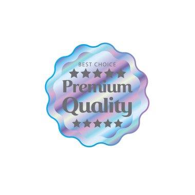 Hologram style sticker