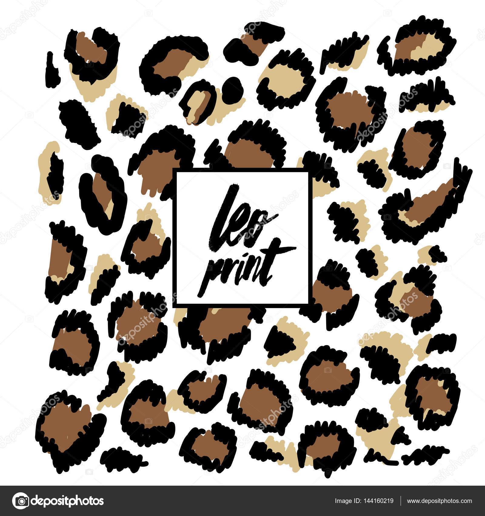Leopard Brown Pattern Stock Vector C Shekaka