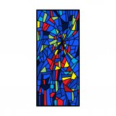 Fényképek színes ólomüveg