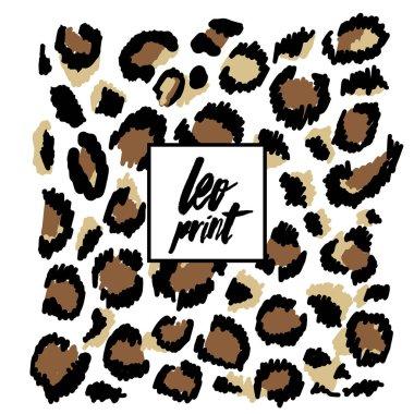 Leopard brown pattern