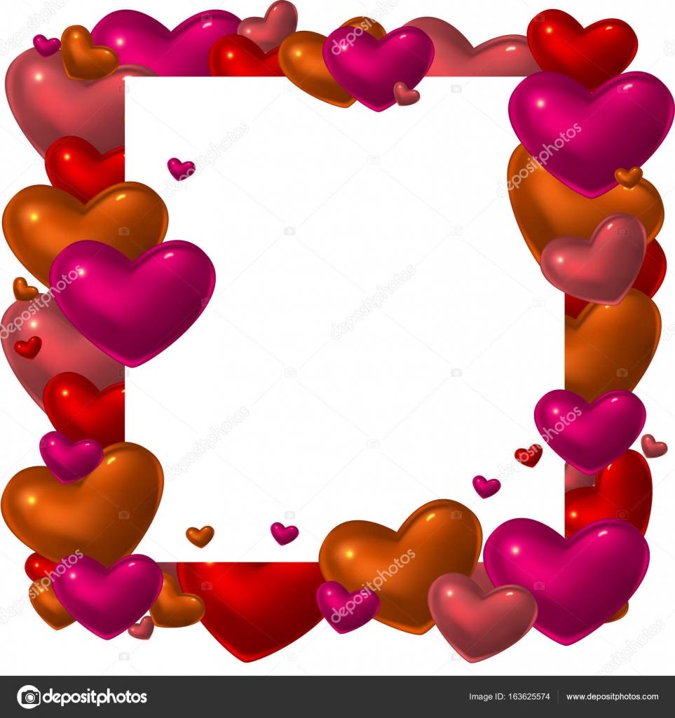 Marco de corazón de cristal rojo — Vector de stock © shoshina #163625574