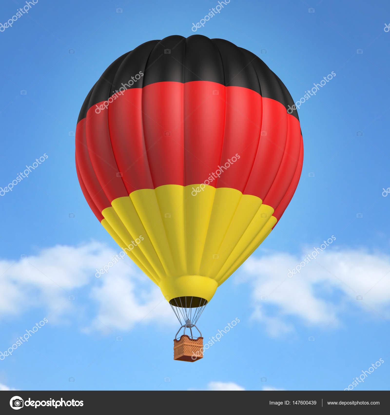 hei luftballon mit deutscher flagge stockfoto koya979 147600439. Black Bedroom Furniture Sets. Home Design Ideas