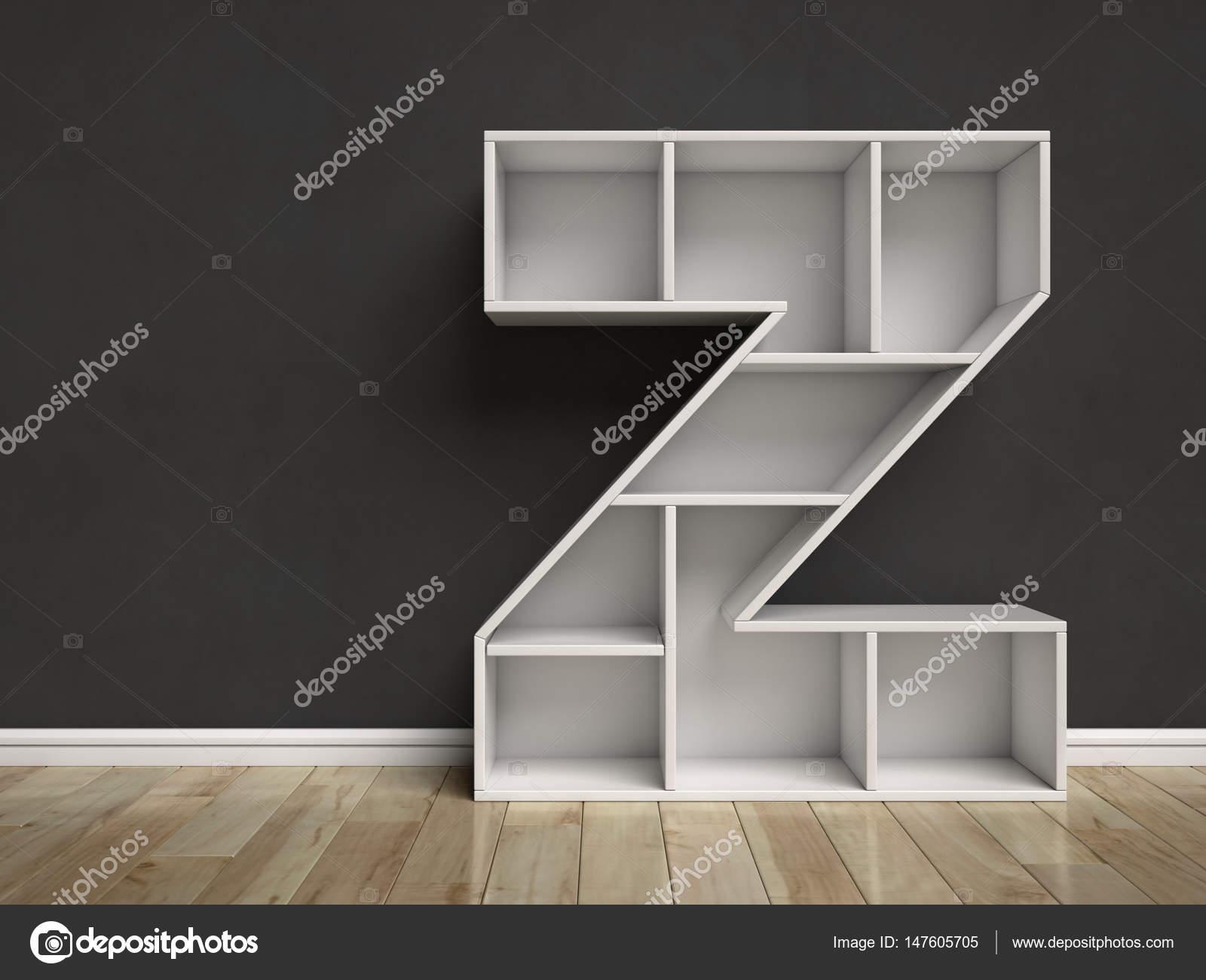 Letter Z Shaped Shelves U2014 Stock Photo