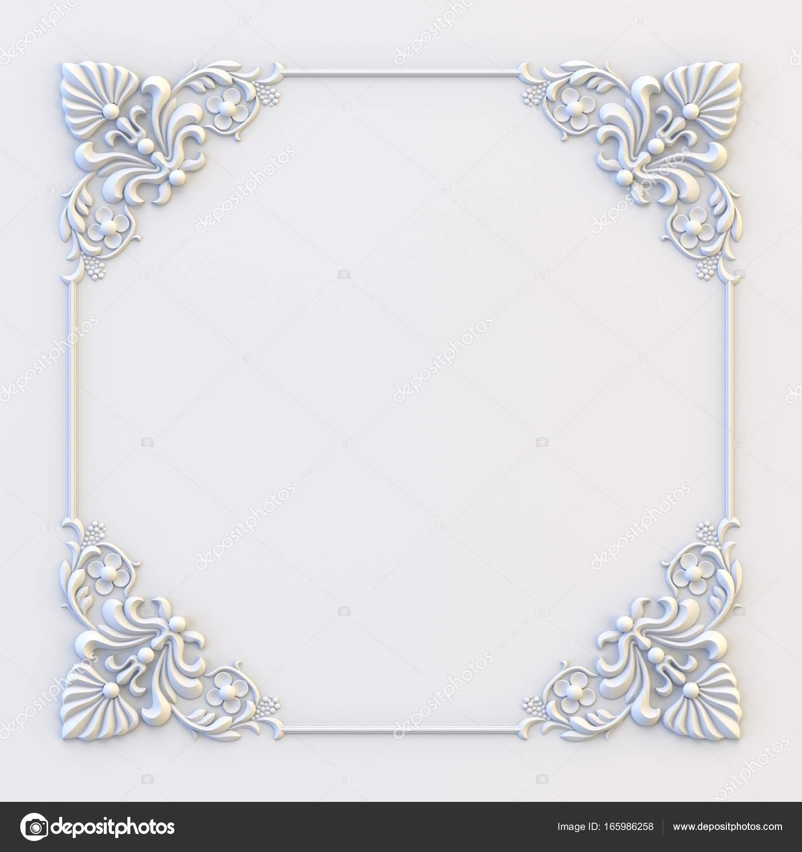Ornamental vintage frames. Floral design template. Page decoration ...