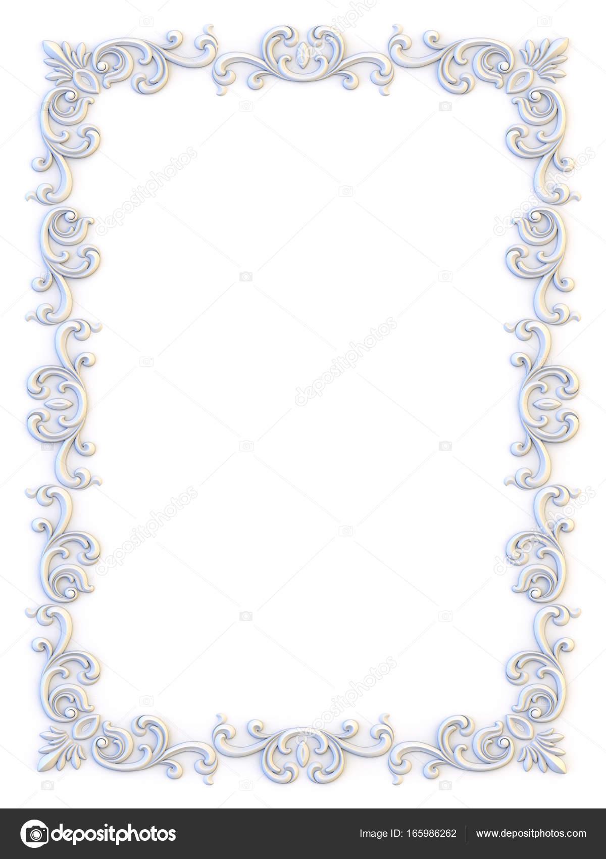 Ornamentale Vintage-Rahmen. Floral Design-Vorlage. Seite Dekoration ...