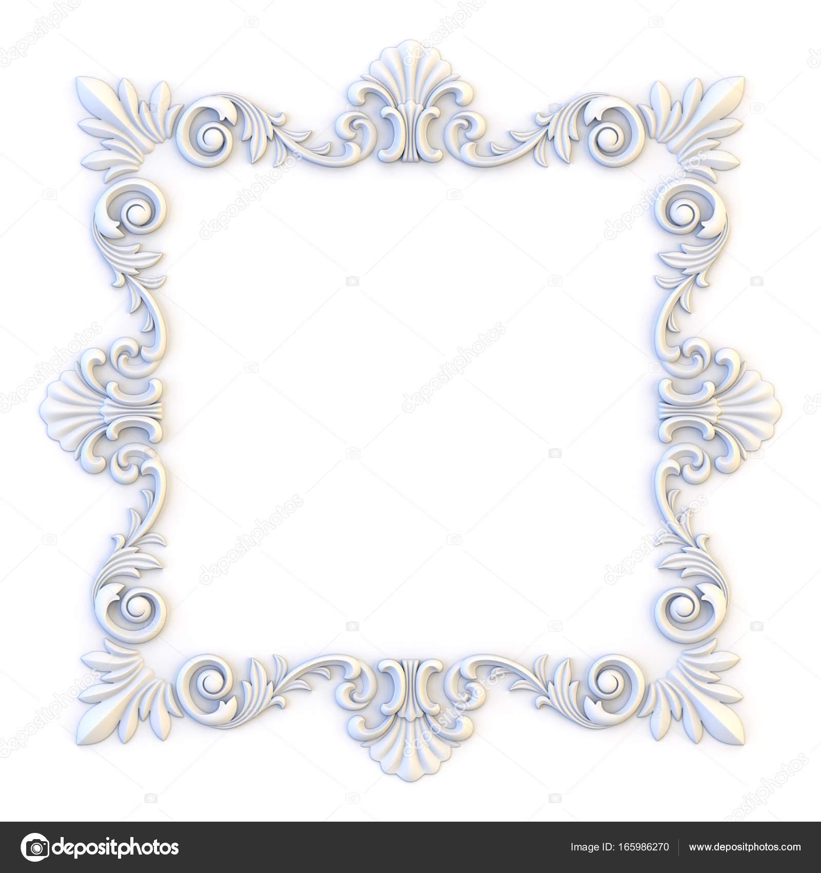Ornamental Vintage Frames Floral Design Template Page Decoration