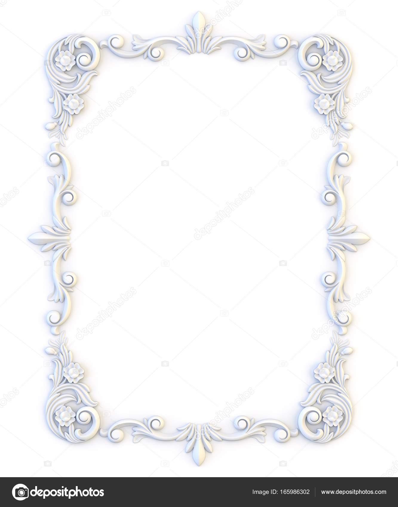Ornamentale Vintage-Rahmen. Floral Design-Vorlage. Seite ...