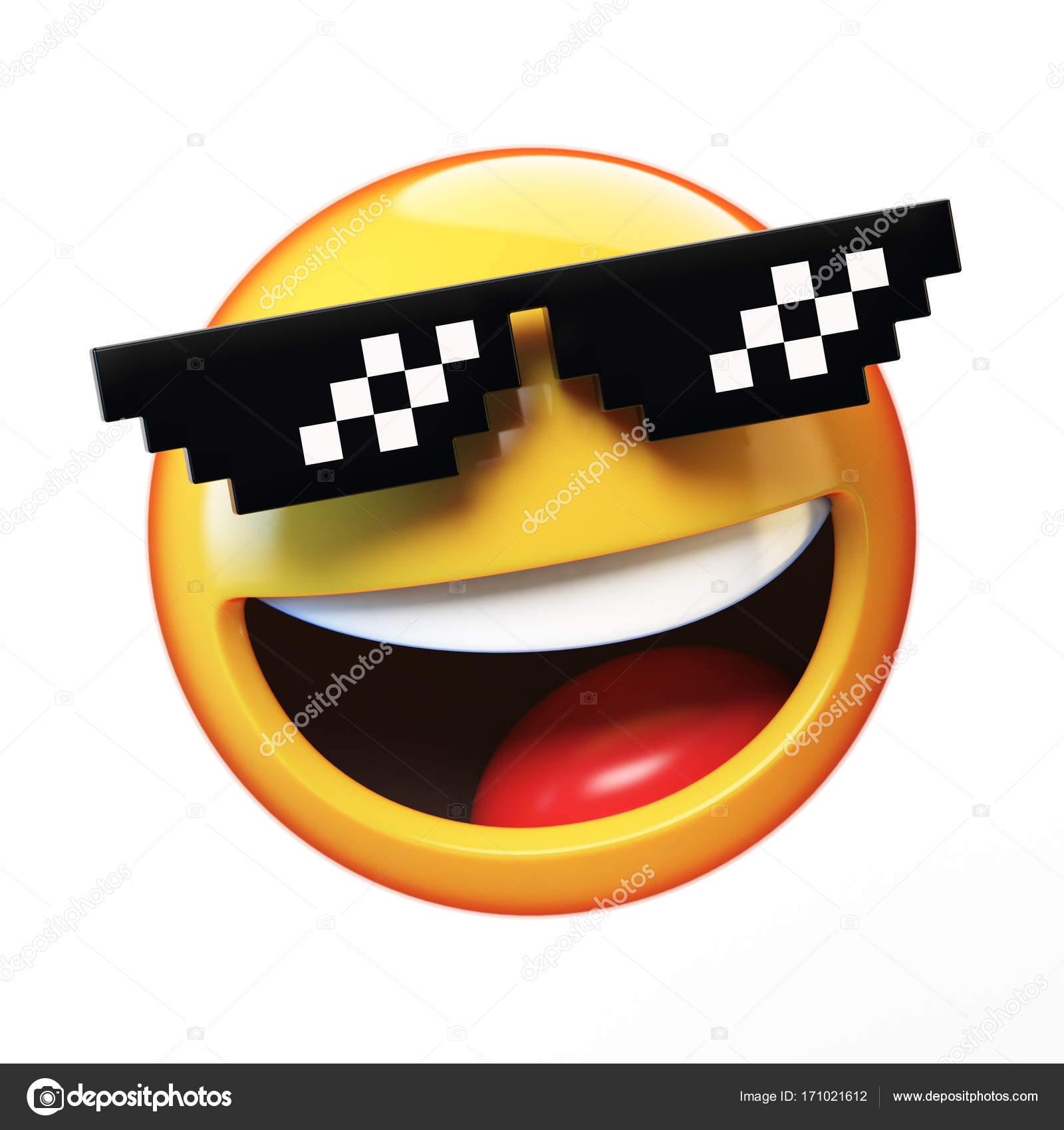 Cool emoji isolated on white background smiling emoticon with cool emoji isolated on white background smiling emoticon with sunglasses 3d rendering photo by koya979 biocorpaavc Images