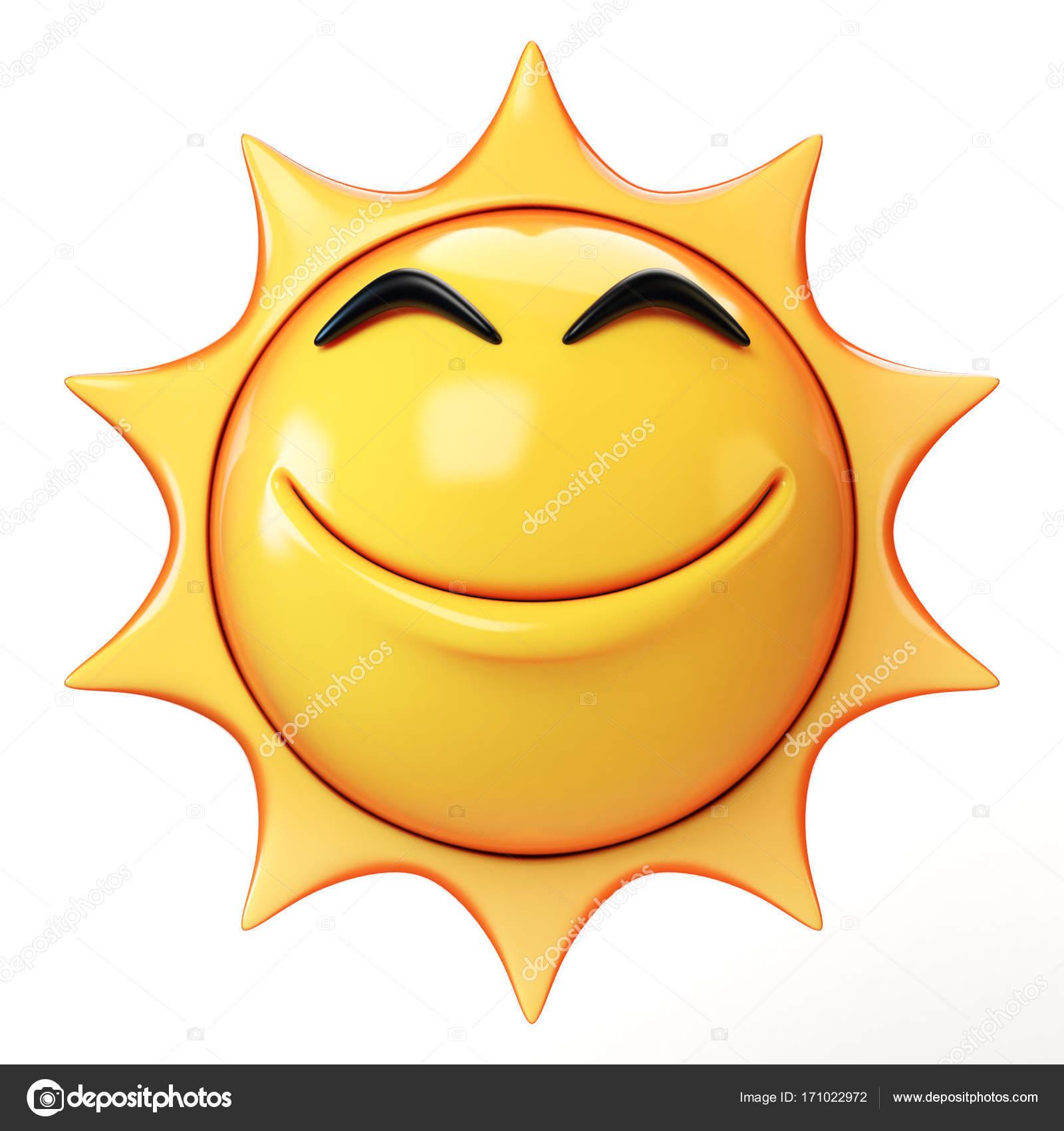 Caricatura sol emoji aislado sobre fondo blanco emoticono - Emoticono gafas de sol ...