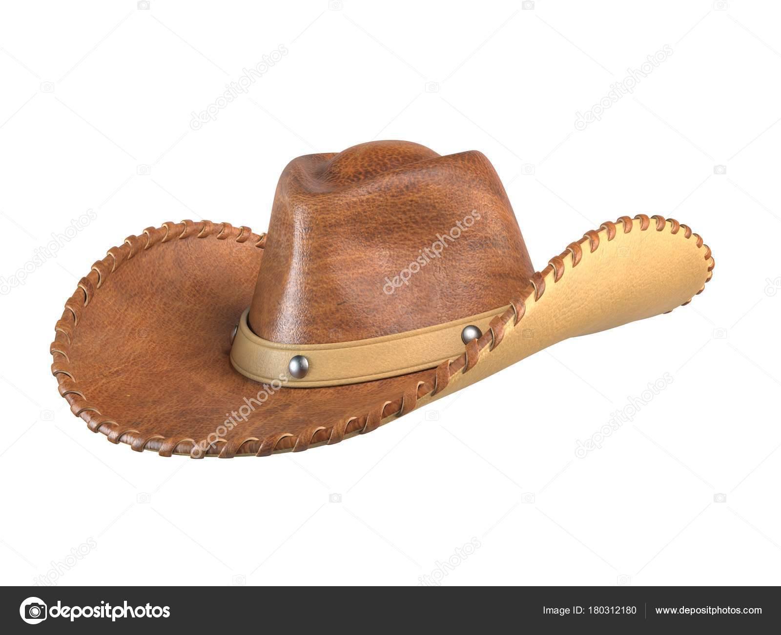 Sombrero Vaquero Aislado Sobre Fondo Blanco Procesamiento — Foto de Stock 524f8c2e0d3