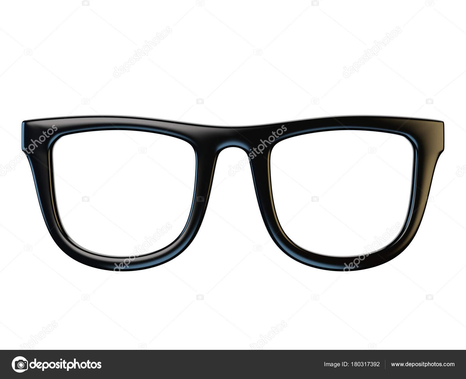 Black Eyeglasses Design Element Glasses Isolated White