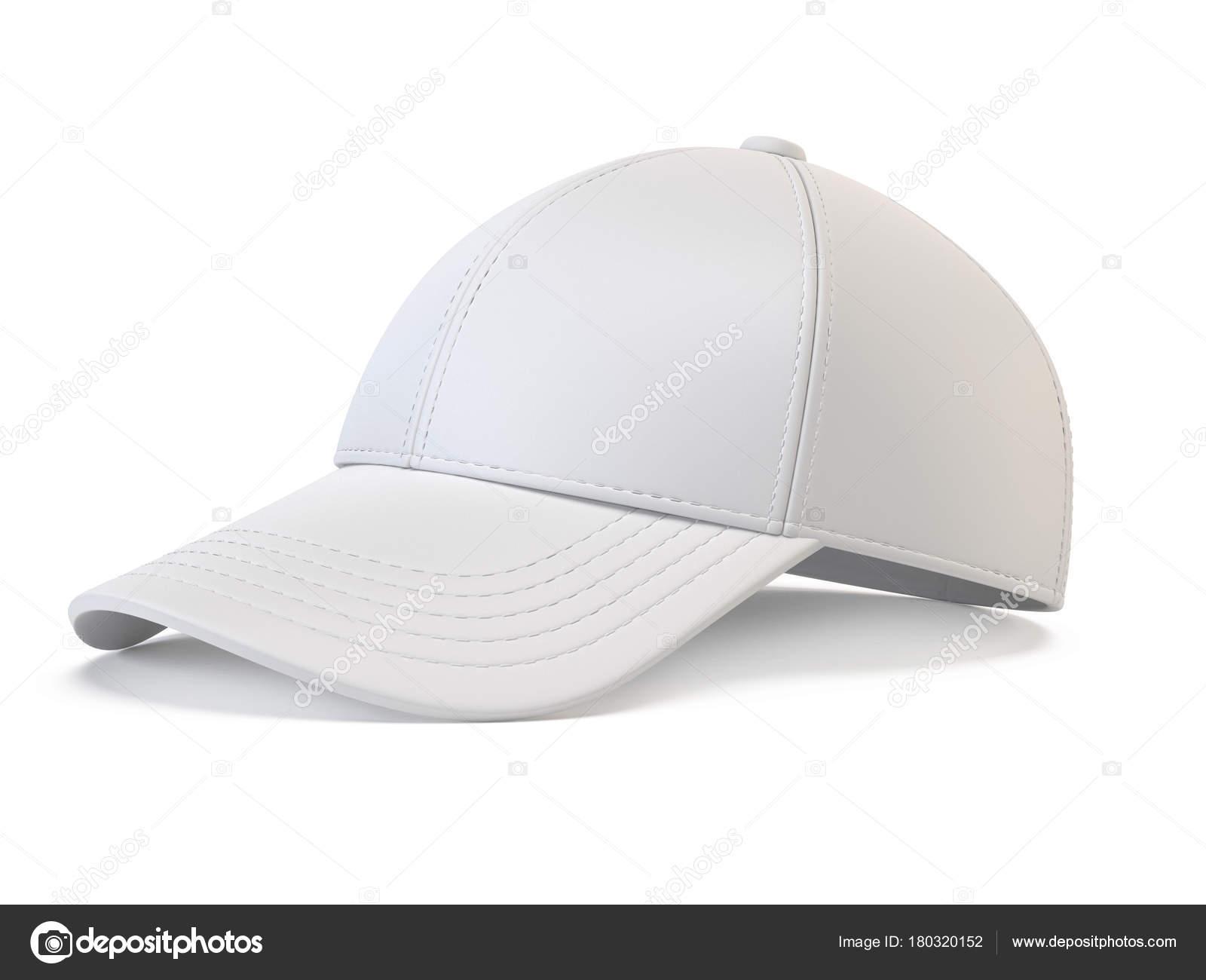 9ab4157c White Baseball Cap Mock Blank Hat Template Isolated White Background —  Stock Photo
